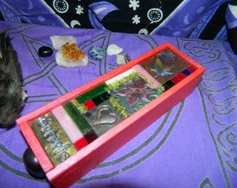 Secrets Jewelry/Altar/Herb Box - One of A Kind, Mosaic, Polymer Clay