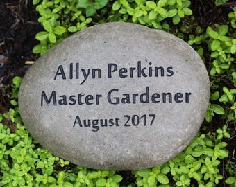 Master Gardener Achievement or Recognition Custom Engraved Stone