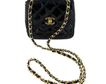 Chanel Patent Mini Flap Bag