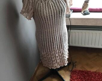 Crochet Dress in cotton yarn