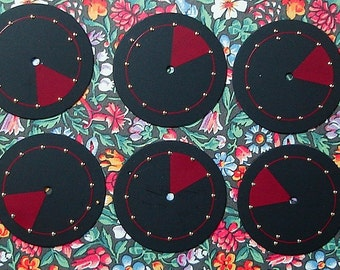 Black Red Watch Face Lot 6 pieces