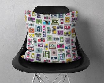 Decorative Throw Pillows 18x18 | Camera Throw Pillow | Photography Pillow | Photo Pillow Cover | Photo Throw Pillow | Camera Pillow 18 x 18