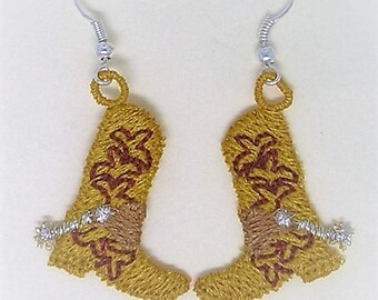 Cowboy Boot Earrings (2)