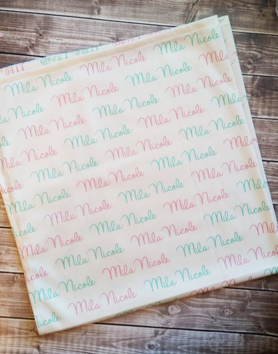 Personalized baby name swaddle blanket: baby and toddler