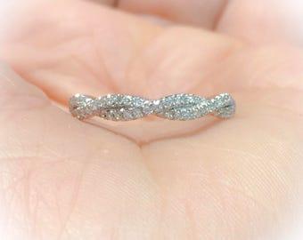 Twist diamond ring Etsy