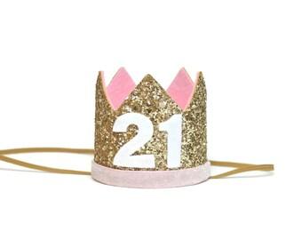Adult Birthday Crown   21st Birthday   Add Any Number   Adult Party Hat   Birthday Crown   Adult Birthday