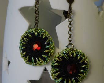 crocheted earrings handmade