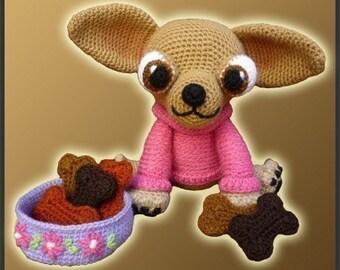 Amigurumi Pattern Crochet Lupita Chihuahua Dog DIY Instant Digital Download PDF
