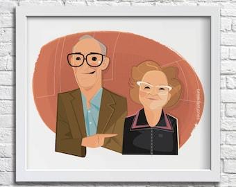 Couples Caricature - digital caricature from photograph, custom cartoon illustration, digital cartoon couple, wedding portrait, couples gift