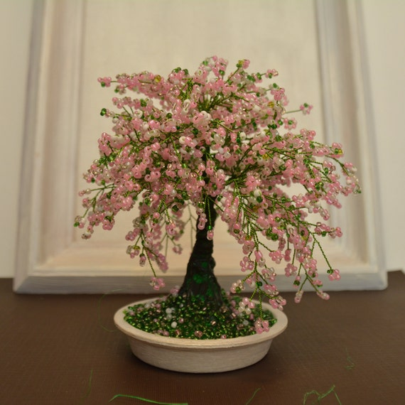 Marvelous Cherry Blossom Home Decor Bonsai Trees Sakura Beaded Bonsai