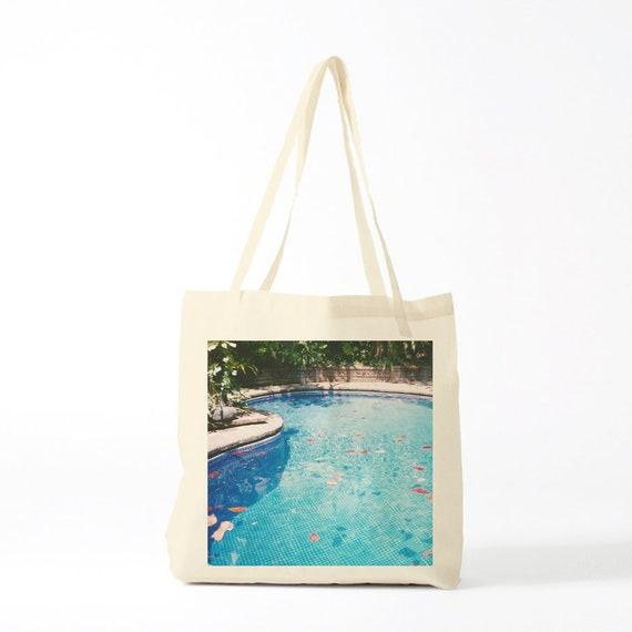 Tote Bag Exotic Swimming-pool. Photo. Cotton bag, sports bag, yoga bag, beach bag, groceries bag, school bag, novelty gift, canvas bag.