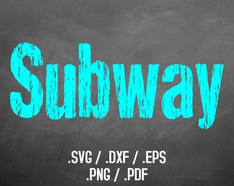 Subway Font Design Files For Use With Your Silhouette Studio Software, DXF Files, SVG Font, EPS Files, Png Font, Distress Font Silhouette