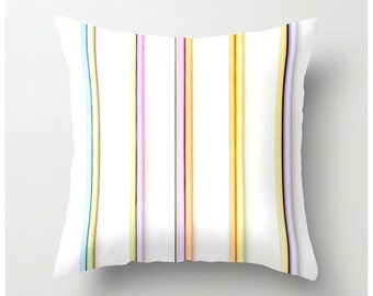 Decorative pillow, books in a row, pastel colors, toss cushion, sofa pillow, pillow cover, cushion cover, stripes, novelty, accent pillow