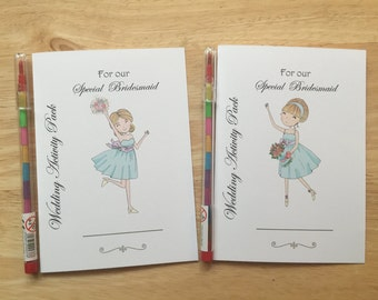 A6 Children's Kids Wedding Activity Pack, Colouring Book, Favour - Flower Girl or Bridesmaid