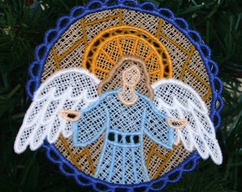 Heavenly Angel Nativity Lace Ornament