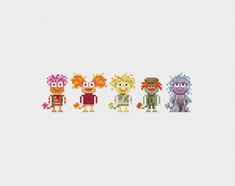 Fraggle Rock Cross Stitch Pattern PDF Instant Download