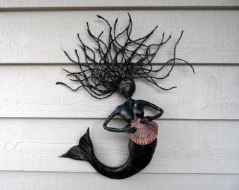 Black Mermaid with fan
