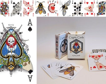 Deck - The Cryptic Cards 56 Card Poker Deck - Playing Card Art of Cryptic Moths