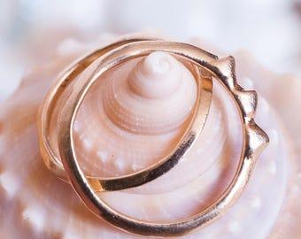 Rising Tide Ring | Sterling Silver, 14k Gold or 14k Rose Gold Ring