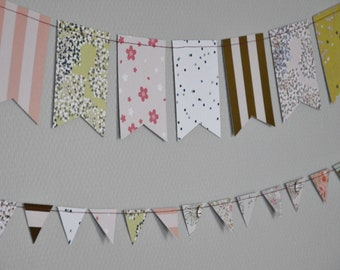 Garland pennants forget-me-not