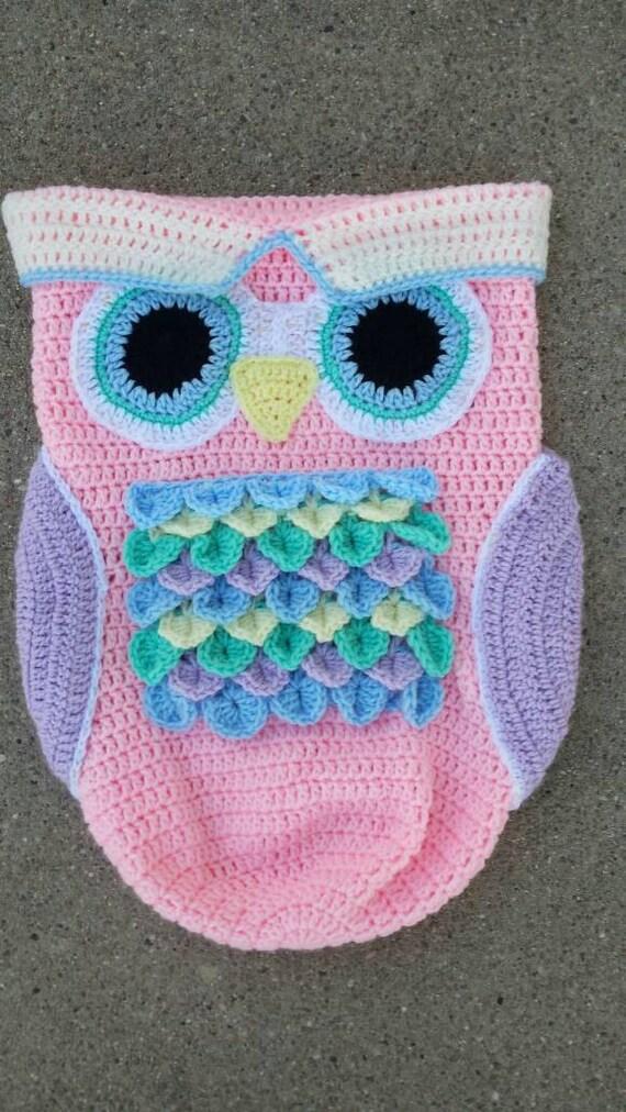 Hermosa Búho Patrón Capullo Crochet Colección de Imágenes - Manta de ...