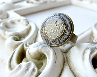 Travel the world - Vintage-Knopf - Ring