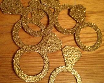 Confetti,Bridal shower,Bridal shower confetti,Gold ring confetti,Gold confetti,Wedding,Wedding conftti,Bling confetti,Ring confetti