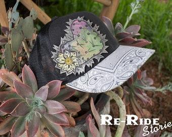 Trucker Hat- Cactus Love Gray