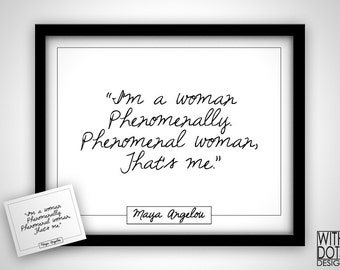 Quote Maya Angelou 'Phenomenal Woman' Poem