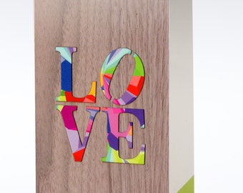 Love Greeting Card, Valentine card, Anniversary Card, Card for Her, Love Art Card, Romantic Card, Wife Card, Girlfriend Card, Wood Card