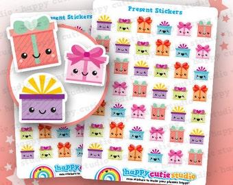 42 Cute Present/Birthday/Gift Planner Stickers, Filofax, Erin Condren, Happy Planner, Kawaii, Cute Sticker, UK