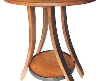 Cricket, ovale recyclé barrique vin fin ou côté table, 4 pieds