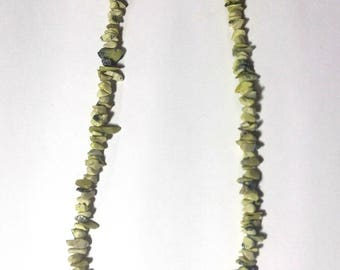 African Turquoise chips Necklace of 44 cm.