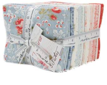 Victoria Fat Quarter Bundle - Moda Fabric - Moda Collection 3 Sisters Designs Romantic Quilt Fabric - Fat Quarter Set of 34 Fabrics