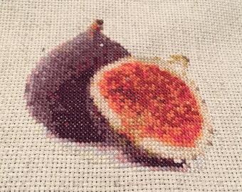 Fig Cross Stitch Pattern - Instant Download