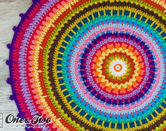 Colorful Rug - PDF Crochet Pattern - Instant Download - Home Decor Crochet Carpet Colorful