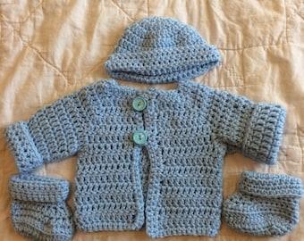 Baby Boy Sweater, New Born Set
