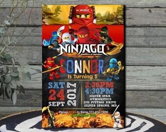 Ninjago Invitation  Ninjago Birthday  Ninjago Party  Ninjago Birthday Invitation  Ninjago Lego Lego Ninja  Lego   Ninjago Printable