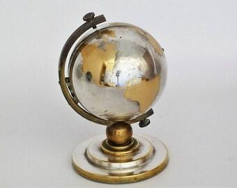 Globe clock etsy vintage 7 jewels europa world globe clock gumiabroncs Image collections