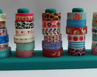 Washi Tape Holder, washi tape display, Wooden Washi Tape Stand, to hold 18, 24 or 30 rolls of washi tape - any colour or varnished