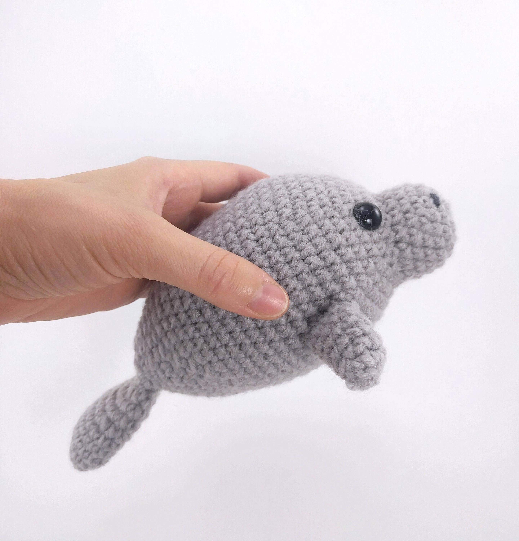 PATTERN: Mama and Baby Manatee - Crochet manatee pattern - amigurumi ...