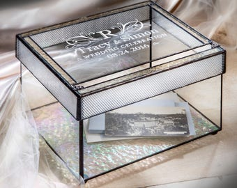 Wedding Card Box with Slot Personalized Wedding Card Holder