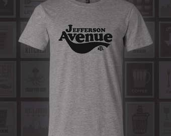 Jefferson Ave T-Shirt - STL City Shirt from Benton Park Prints