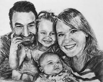 Custom Charcoal/Pencil Portrait