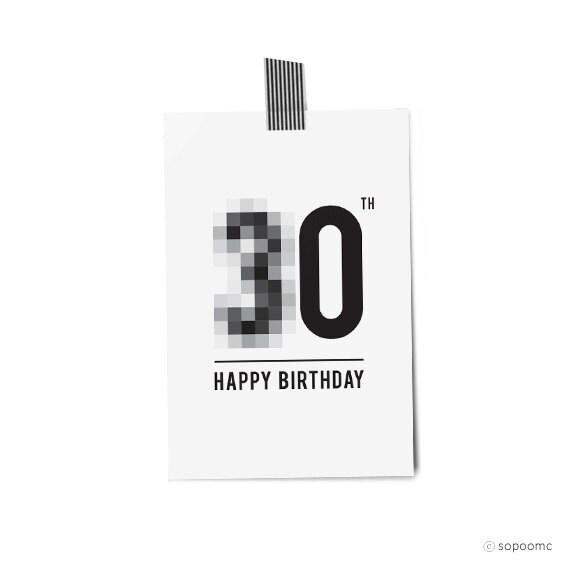 Printable 30th Birthday Cards Acurnamedia