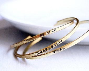 Gold Compassion Bangles Set