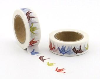Origami Birds Washi Tape - Craft Supplies - Scrapbooking - PlannerStickers - Erin Condren - Bujo Planner - Bible Journaling  - Love My Tapes