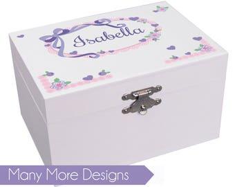 Personalized Musical Ballerina Jewelry Box for Girls in Teal, Aqua, Pink, Lavender, Purple Monogrammed Ballet Recital JEWEA