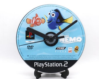 Finding Nemo PlayStation 2 PS2 Upcycled CD Clock Video Game Gift Idea