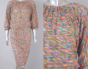 missoni silk dress | vintage missoni dress | vintage 80s dress